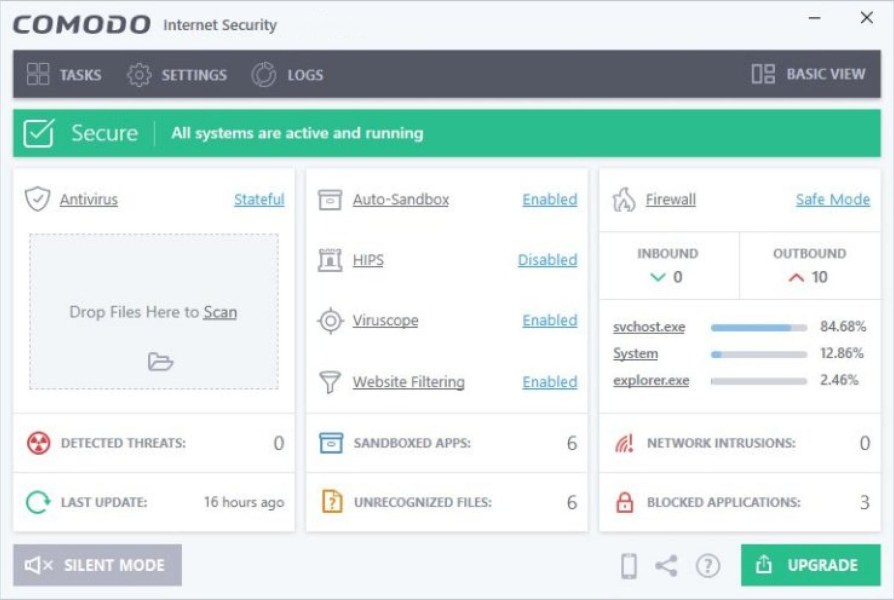 COMODO Internet Security windows