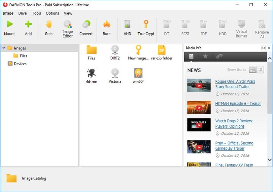 DAEMON Tools Pro windows