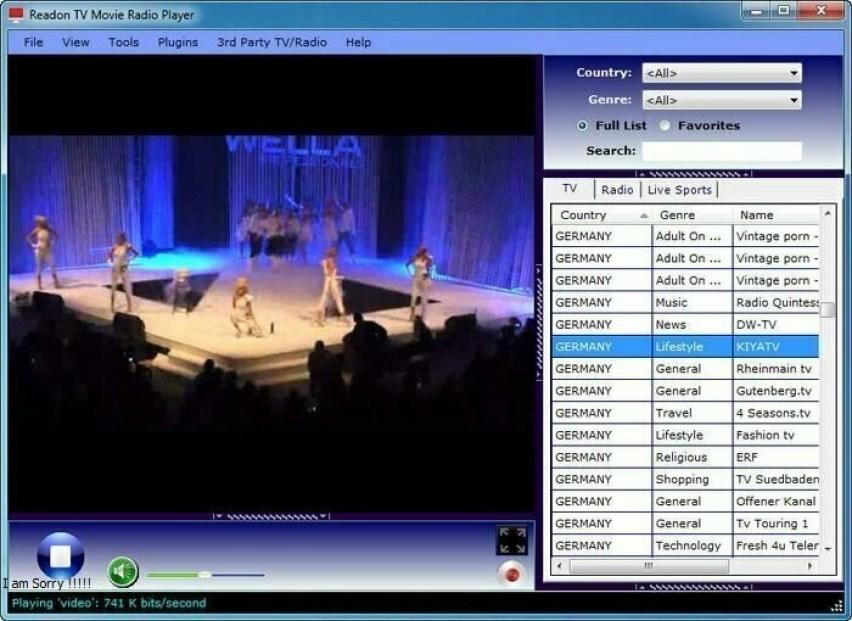 Readon TV Movie Radio Player windows