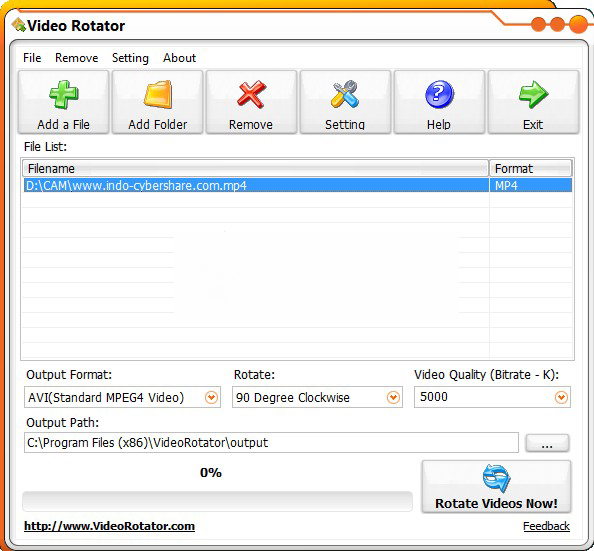 Video Rotator windows