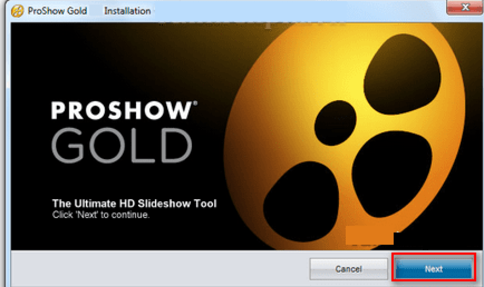 ProShow Gold windows