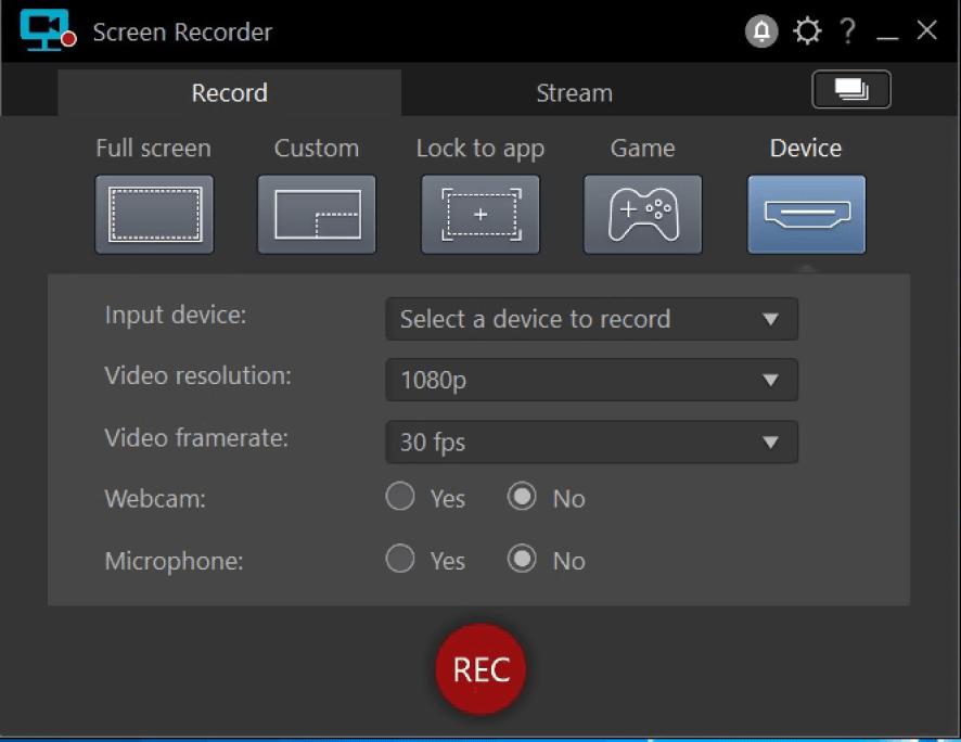 CyberLink Screen Recorder Deluxe windows