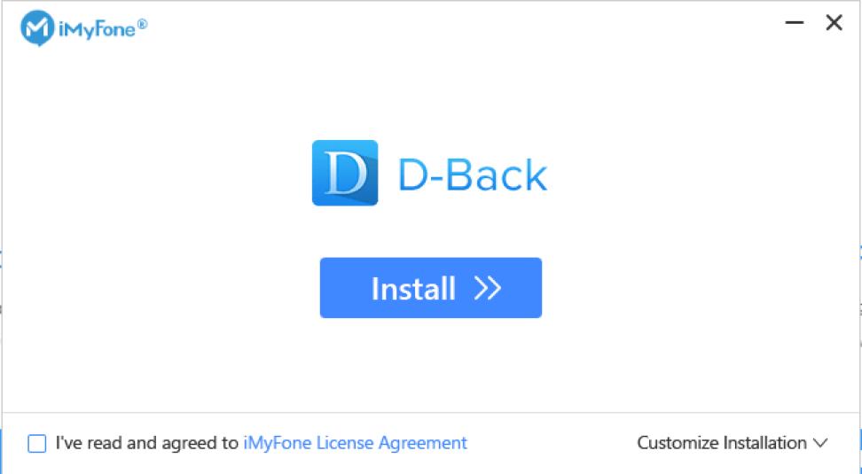 iMyFone D-Back windows