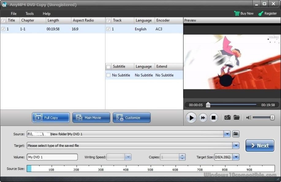 AnyMP4 DVD Copy windows