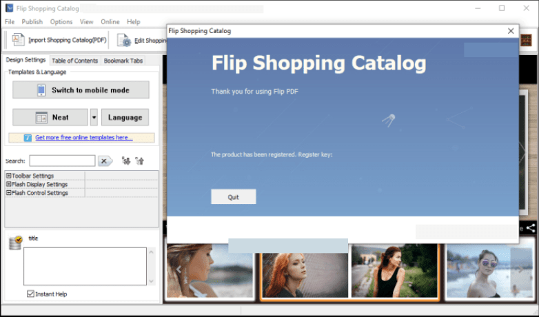 Flip Shopping Catalog windows
