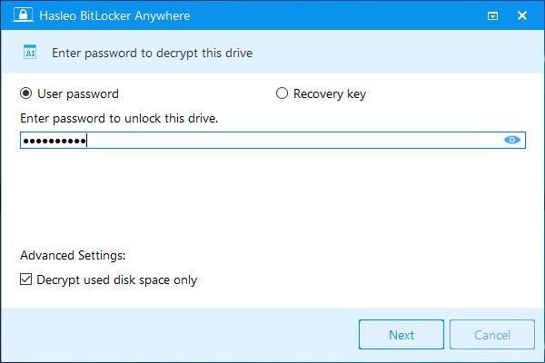 Hasleo BitLocker Anywhere windows