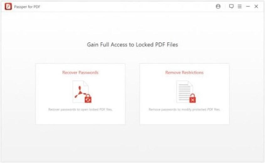 Passper for PDF windows