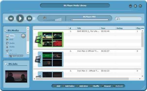 BS.Player Pro windows