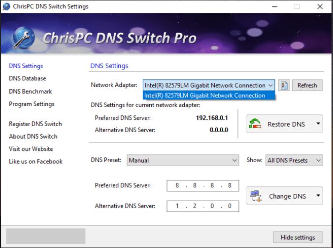 ChrisPC DNS Switch Pro windows
