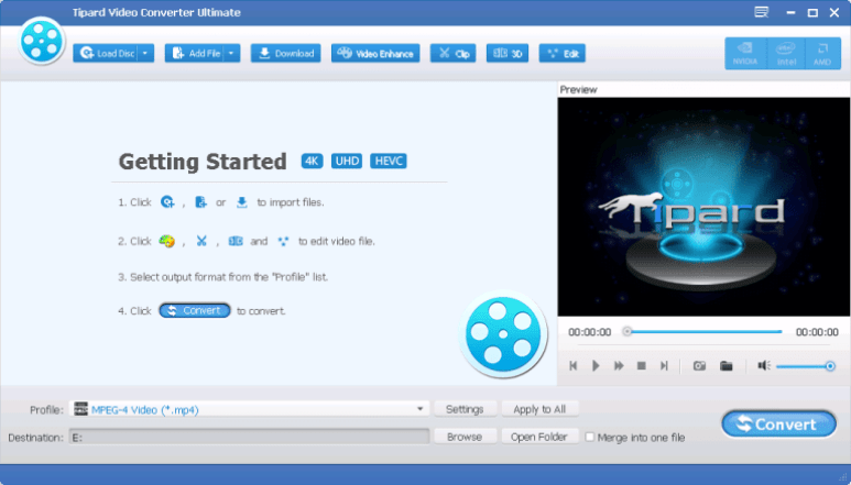 Tipard HD Video Converter latest version