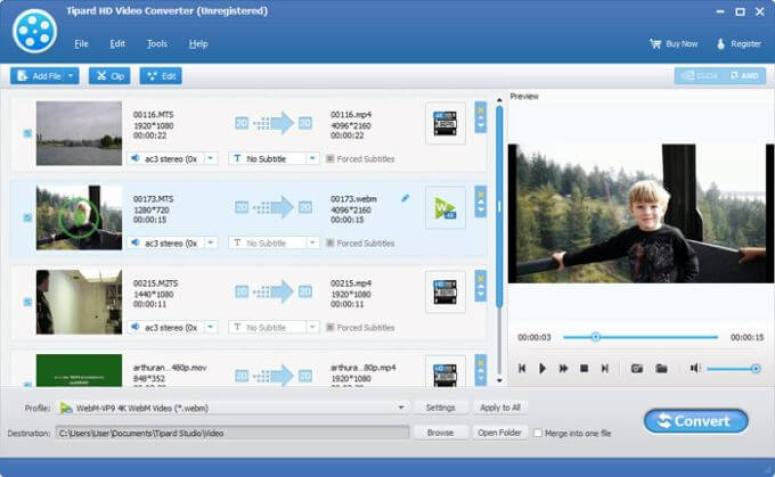 Tipard HD Video Converter windows
