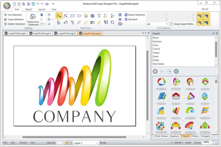 EximiousSoft Logo Designer latest version