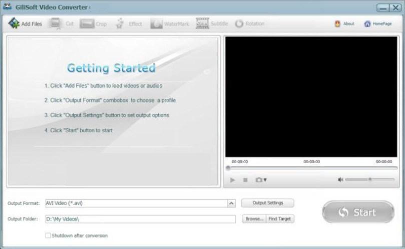 GiliSoft Video Converter windows