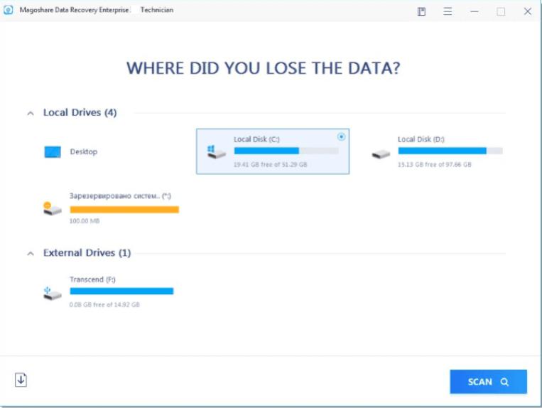 Magoshare Data Recovery windows