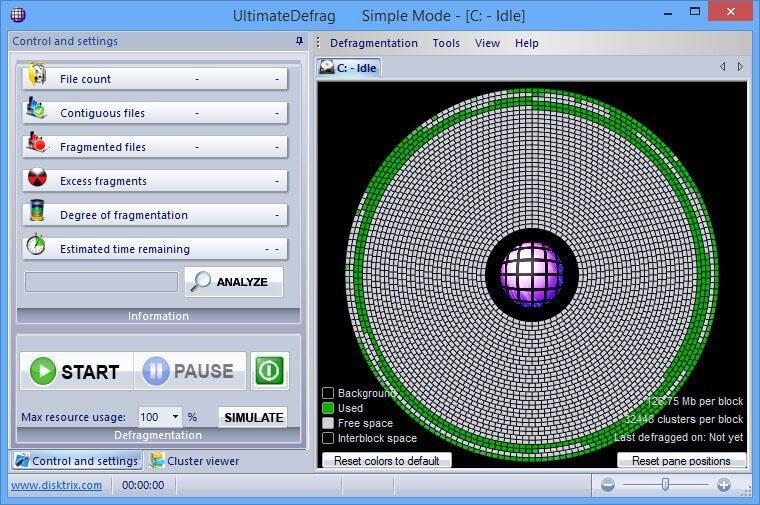 DiskTrix UltimateDefrag windows