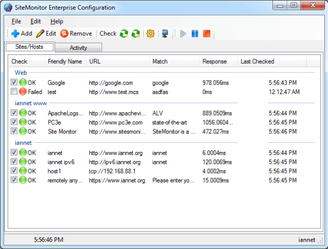 SiteMonitor Enterprise latest version