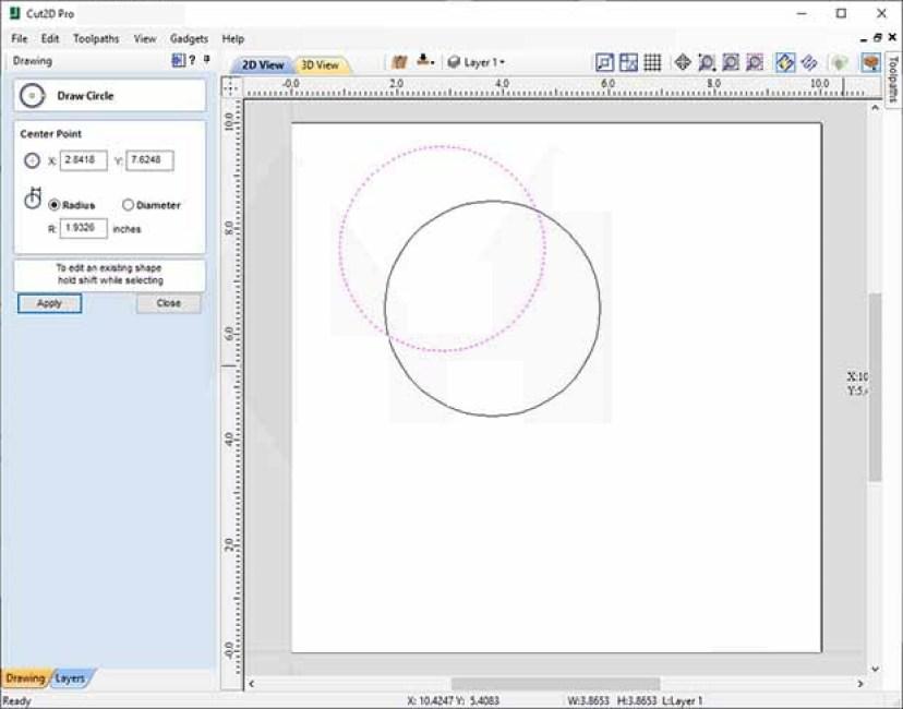 Vectric Cut2D Pro windows