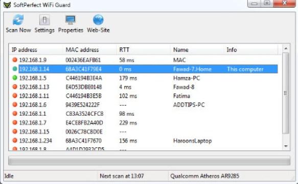 SoftPerfect WiFi Guard latest version