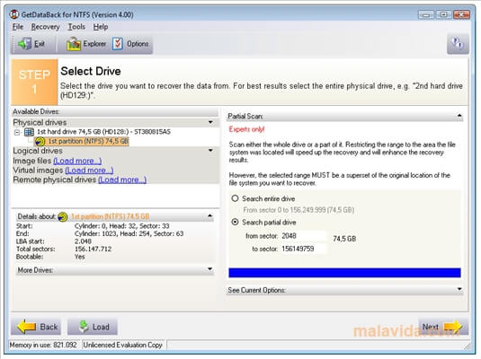 Download getdataback ntfs