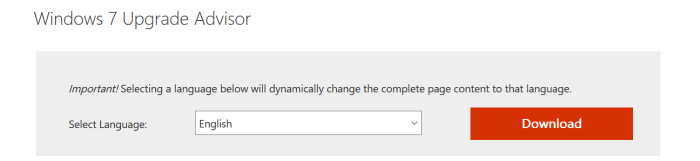 Download the Windows 7 Upgrade Advisor