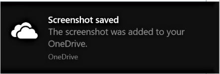 how to take a screenshot on windows - screenshot saved notification