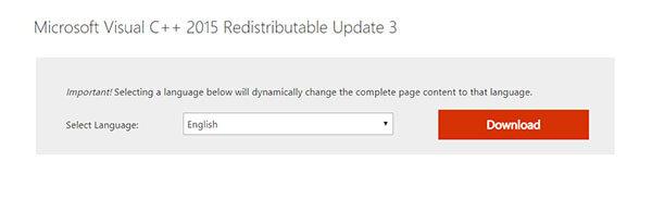 Microsoft Visual C Redistributable Studio Update
