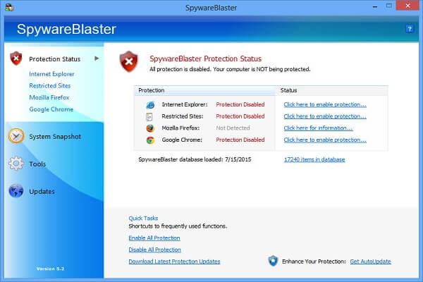 SpywareBlaster Free Download Review Filehippo % Majorgeeks
