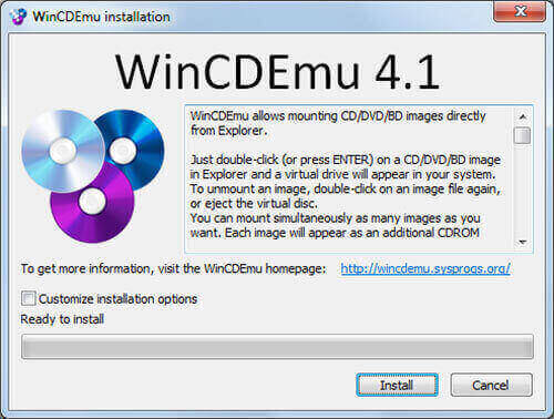 WinCDEmu Free ISO Mounter Download For Windows 10