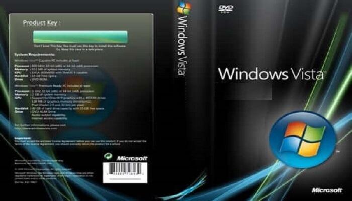 Windows Vista Product Key For 32/64-bit OS