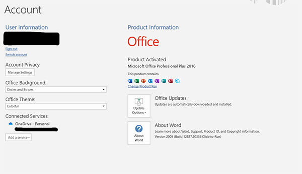 Activate Microsoft Office 2016 without Product Key in Windows 10