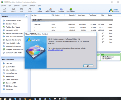 AOMEI Partition Assistant 7.1 Crack