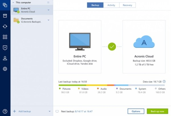 Acronis True Image 2019 vs Paragon Hard Disk Manager