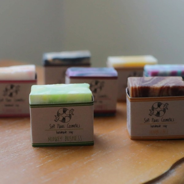 Irish mini soaps pack from Soft Paws Cosmetics