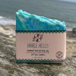 whale hello, ocean breeze scrubbing soap