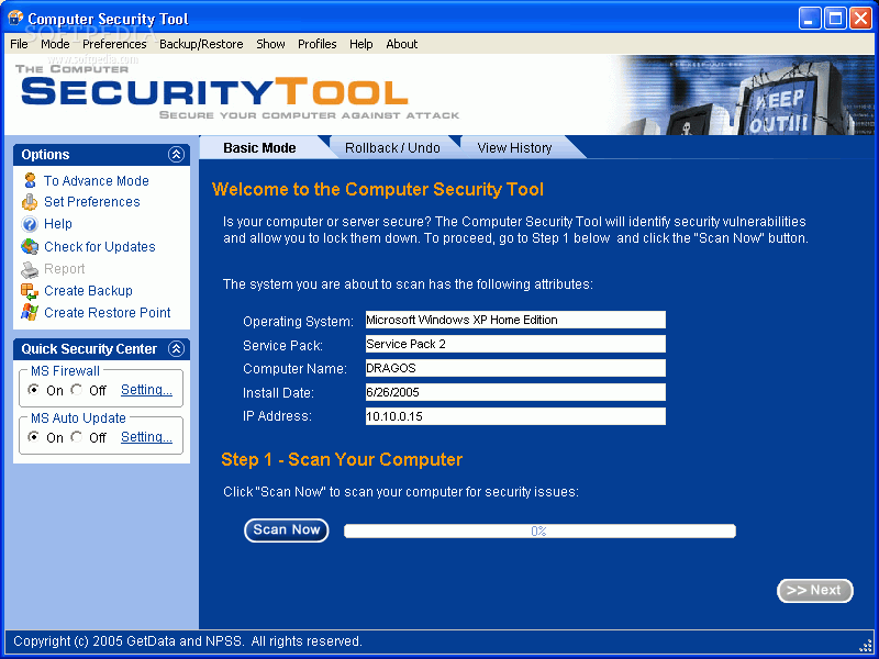 menghapus security tools
