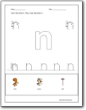 Letter N Worksheets Teaching The Letter N And The N