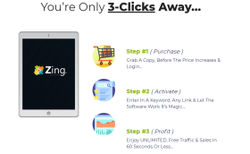 ZING REVIEW: Passive online profits Plus Free Traffic using this new Youtube software