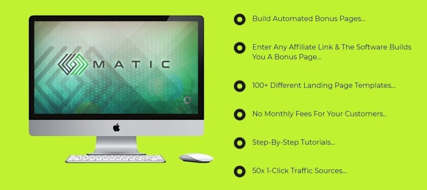 """Matic is The World's 1st """"AutoPilot"""" Affiliate App Matic Gets You UNLIMITED, Free BUYER Traffic & Sales In 60 Seconds! Matic Automated Sales From 50 Traffic Sources In 3-Clicks!"""