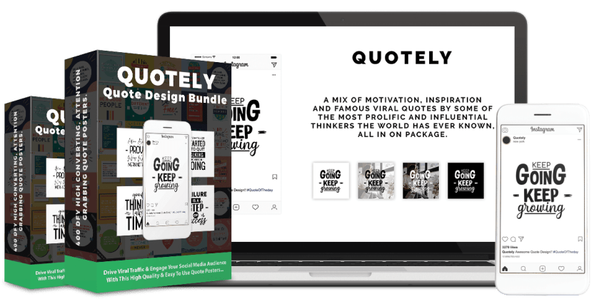 Drive Viral Traffic & Engage Your Social Media Audience With This 600 DFY & Ready To Use Quote Posters...