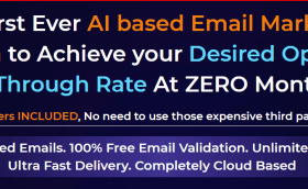 The First Ever AI based Email Marketing Platform to Achieve your Desired Open Rate & Click-Through Rate At ZERO Monthly Fee. SMTP Servers INCLUDED, No need to use those expensive third party SMTPs. #digitalmarketer #digitalmarketing #EmailMarketing