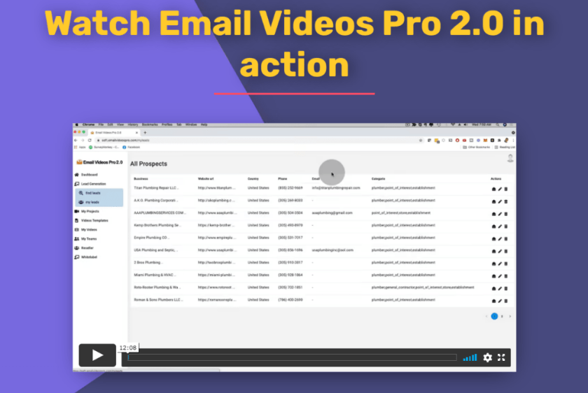 email videos