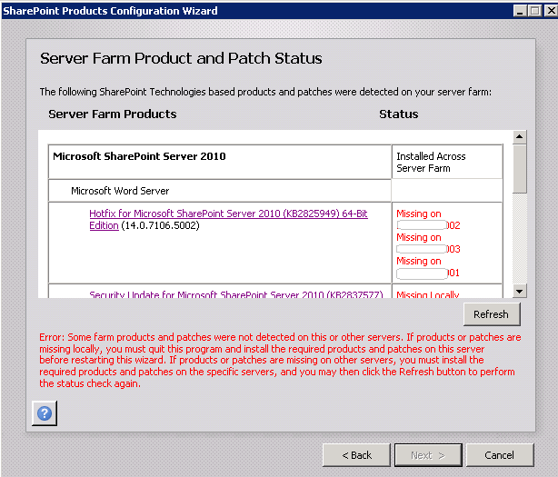 Adding new SharePoint ProjectServer to Farm Issue