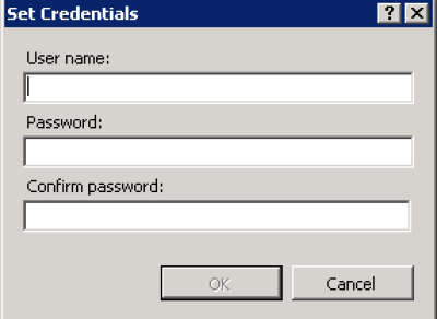 IIS Manager > App Pool > Advanced Settings > Set Button > Set Credentials