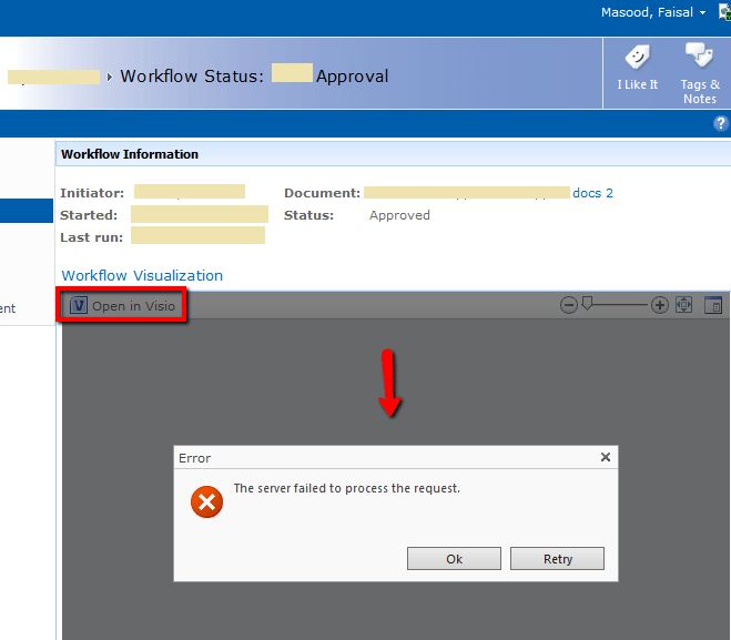 Common Errors in SharePoint Visio Services