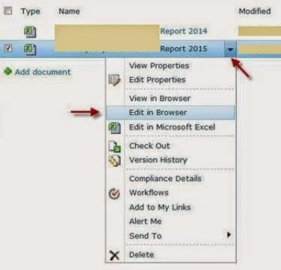 SharePoint Excel Web Services - Edit In Browser an Excel File