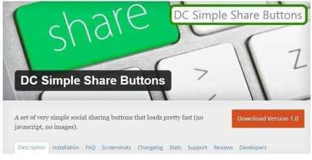 DC Simple Share Buttons