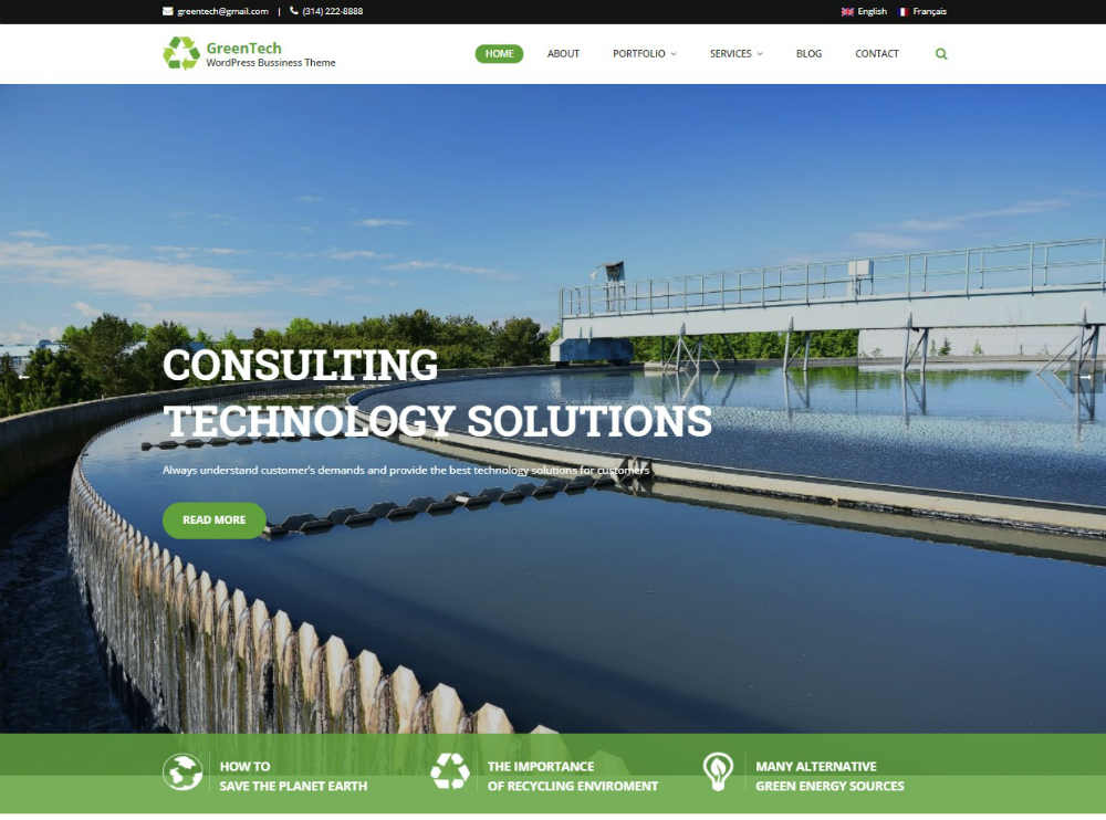 GreenTech Theme