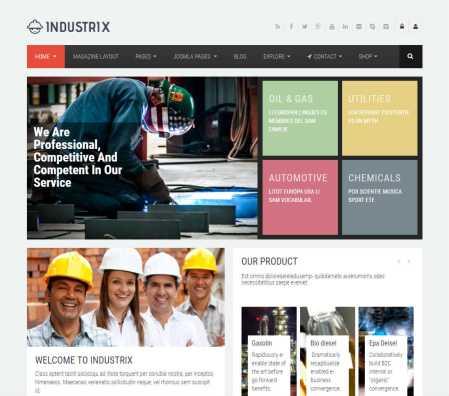 Industrix Joomla Template