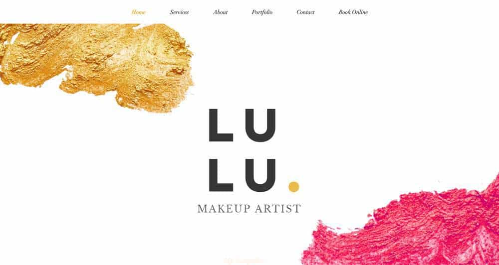 Professional Makeup Wix Template