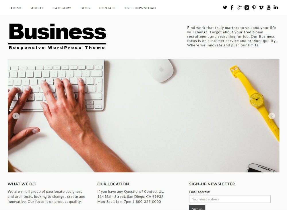 Free Business Theme Responsive